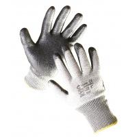 Rękawice Razorbill, montażowe, wł. szklane/nylon/spandex+nitryl, rozm. 7, srebrne, Rękawice, Ochrona indywidualna