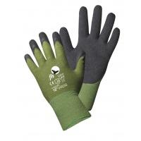 Rękawice Virdis, montażowe, nylon+lateks, rozm. 10, zielono-czarny, Rękawice, Ochrona indywidualna