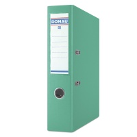 Segregator DONAU Premium-S, PP, A4/75mm, turkusowy, Segregatory polipropylenowe, Archiwizacja dokumentów