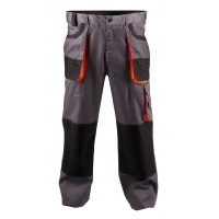 Trousers econ. Chris (BE-01-003), cotton/polyester, size 48, grey&orange