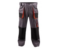 Trousers econ. Chris (BE-01-003), cotton/polyester, size 52, grey&orange