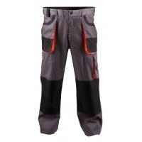 Spodnie ekon. Chris (BE-01-003), bawełna/poliester, rozm. 58, szaro-pomarańczowe, Spodnie, Ochrona indywidualna