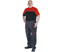 Trousers Emerton cotton/polyester, size 48, anthracite&orange