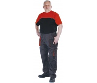 Trousers Emerton cotton/polyester, size 52, anthracite&orange