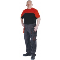 Spodnie Emerton bawełna/poliester rozm. 56 antracytowo-pomarańczowe, Spodnie, Ochrona indywidualna