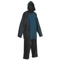Spodnie i kurtka Carina, poliester, rozm. XL, niebieskie, Zestaw przeciwdeszczowy, Ochrona indywidualna