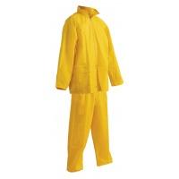 Spodnie i kurtka Carina, poliester, rozm. XL, żółte, Zestaw przeciwdeszczowy, Ochrona indywidualna