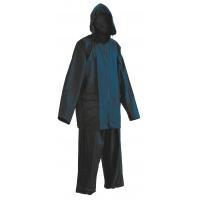Spodnie i kurtka Carina, poliester, rozm. XXXL, niebieskie, Zestaw przeciwdeszczowy, Ochrona indywidualna