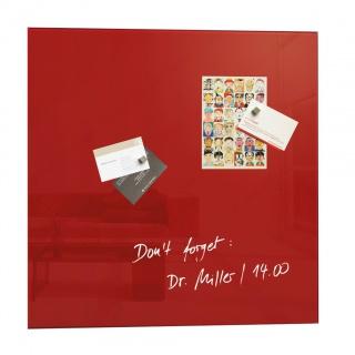 Tablica suchoś. -magn. SIGEL, 48x48cm, szklana, czerwona, Tablice suchościeralne, Prezentacja