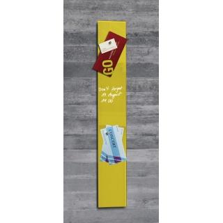 Tablica suchoś. -magn. SIGEL, 12x78cm, szklana, żółta, Tablice suchościeralne, Prezentacja
