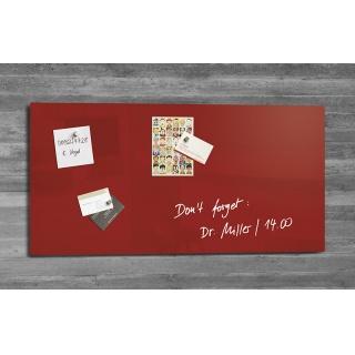 Tablica suchoś. -magn. SIGEL, 91x46cm, szklana, czerwona, Tablice suchościeralne, Prezentacja