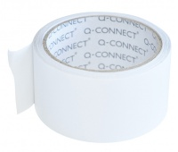 Double-sided Tape, Q-CONNECT, 50mm, 10m, white