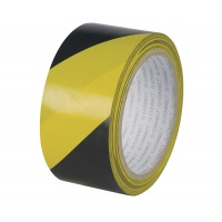 Taśma ostrzegawcza 48mm 20m czarno-żółta, Taśmy specjalne, Drobne akcesoria biurowe