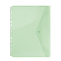 Teczka kopertowa DONAU zatrzask, PP, A4, 200mikr., z europerforacją, zielona, Teczki płaskie, Archiwizacja dokumentów