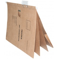 Suspension File DONAU for personal documents, cardboard, A4, 230gsm, brown