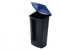 Wkład z wiekiem do kosza HAN Mondo, PP, czarno-niebieski, Kosze plastik, Wyposażenie biura