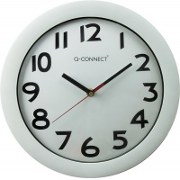 Wall Clock Q-CONNECT Budapest, 28cm, silver