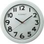 Zegar ścienny Q-CONNECT Budapest, 28cm, srebrny, Zegary, Wyposażenie biura