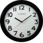 Zegar ścienny Q-CONNECT Tokyo, 28cm, czarny, Zegary, Wyposażenie biura