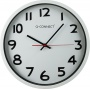 Zegar ścienny Q-CONNECT Warsaw, 37,5cm, srebrny
