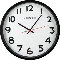 Wall Clock Q-CONNECT Wels 37. 5cm, black
