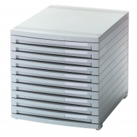 Ten-Drawer Set, HAN Contur, polystyrene, A4+, grey