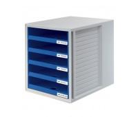 Five-Drawer Set HAN CabinetSet, polystyrene, A4, open, blue
