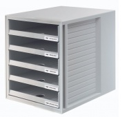 Five-Drawer Set HAN CabinetSet, polystyrene, A4, open, grey