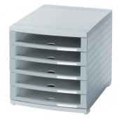 Five-Drawer Set HAN Contur, polystyrene, A4+, open, grey
