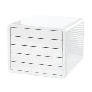Zestaw 5 szufladek HAN iBox, ABS, A4, biały, Szufladki - zestawy, Drobne akcesoria biurowe
