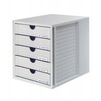 Five-Drawer Set HAN System-Box, polystyrene, A4, grey