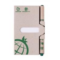 Zestaw mini notatnik z długopisem ICO Green, brązowy, Notatniki, Zeszyty i bloki
