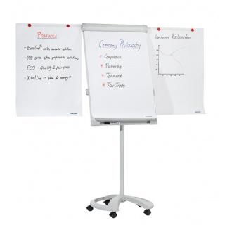 Flipchart mobilny FRANKEN, 68x104,5cm, tablica suchoś. -magn., z wyciąganymi ramionami, Flipcharty, Prezentacja