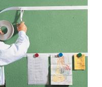 Listwa samoprzylepna FRANKEN, magnetyczna, 100x50cm, 10szt., biała, Systemy prezentacyjne, Prezentacja