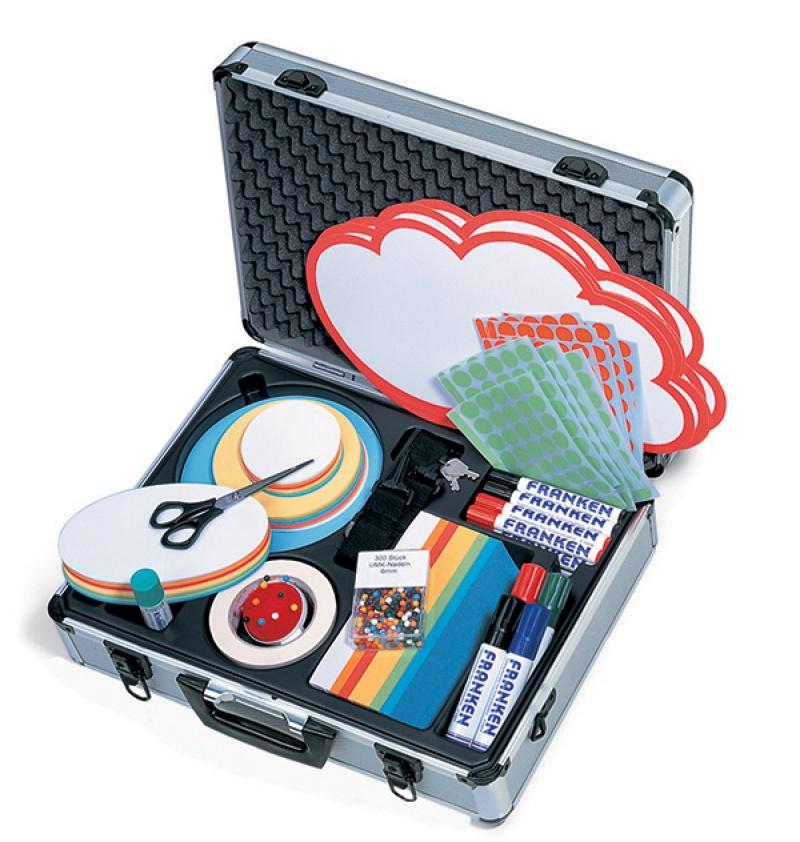 Aluminiowa walizka FRANKEN, z akcesoriami, Systemy prezentacyjne, Prezentacja