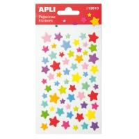 Naklejki APLI Stars, wypukłe, mix kolorów, Produkty kreatywne, Artykuły szkolne