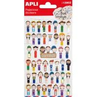 Naklejki APLI Ethnic, z brokatem, mix kolorów, Produkty kreatywne, Artykuły szkolne