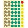 Naklejki APLI Happy Smile Rem, mix kolorów, Produkty kreatywne, Artykuły szkolne