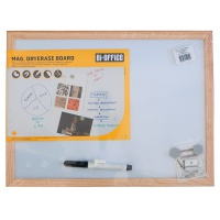Tablica suchościeralna BI-OFFICE, 40x30cm, rama drewniana, Tablice suchościeralne, Prezentacja