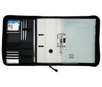 Teczka ALASSIO Easy, poliester, 340x350x80mm, czarna, Torby, teczki i plecaki, Akcesoria komputerowe