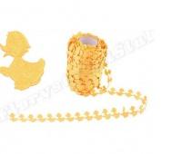 Aplikacje kaczuszki 1,5x2,5cm/65szt,1mb, żółte, Produkty kreatywne, Artykuły dekoracyjne