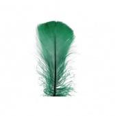 Piórka w torebce foliowej 15 gram, ciemnozielone, Produkty kreatywne, Artykuły dekoracyjne