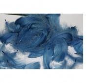 Piórka w torebce foliowej 15 gram, niebieskie, Produkty kreatywne, Artykuły dekoracyjne
