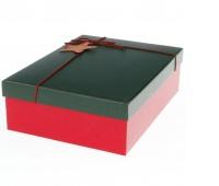 Zestaw pudełek-prostokąt(3 szt.)2 kolory:red/green, Torby ozdobne, Papier i etykiety