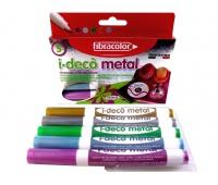 Mazaki Dekoracyjne I-Deco METAL x5, Flamastry, Artykuły szkolne