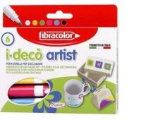 Mazaki Dekoracyjne I-Deco ARTIST x6, Flamastry, Artykuły szkolne