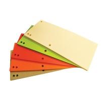 Przekładki OFFICE PRODUCTS, karton, 1/3 A4, 235x105mm, 100szt., mix kolorów, Przekładki kartonowe, Archiwizacja dokumentów
