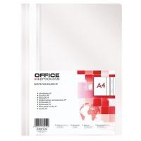 Skoroszyt OFFICE PRODUCTS, PP, A4, miękki, 100/170mikr., biały, Skoroszyty podstawowe, Archiwizacja dokumentów