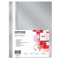 Skoroszyt OFFICE PRODUCTS, PP, A4, miękki, 100/170mikr., szary, Skoroszyty podstawowe, Archiwizacja dokumentów