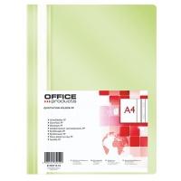 Skoroszyt OFFICE PRODUCTS, PP, A4, miękki, 100/170mikr., jasnozielony, Skoroszyty podstawowe, Archiwizacja dokumentów